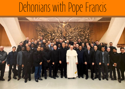 Dehonians with Pope Francis
