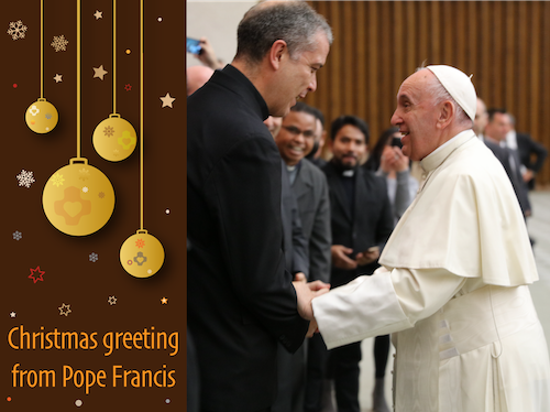 Christmas greeting from Pope Francis