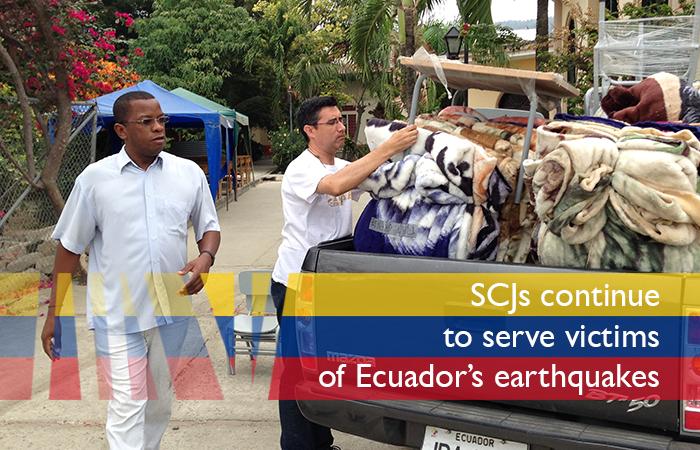 SCJs continue to serve victims of Ecuador's earthquakes