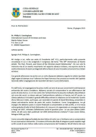 Lettera aperta al Professore Philip A. Cunningham