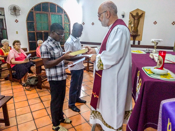 Mozambique: reception of two new postulants