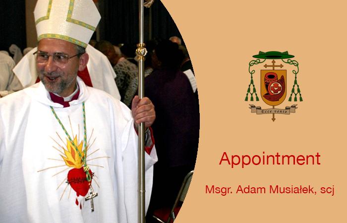 Msgr. Adam Musiałek, scj as apostolic administrator