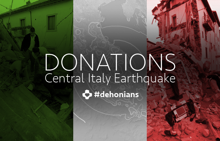 Donations to earthquake victims