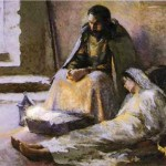 "(Nativity, by Julius Garibaldi ""Gari"" Melchers)"
