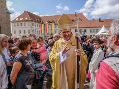 Pater Dr. Heiner Wilmer erhält in einem Festgottesdienst am 01.09.2018 im Dom zu Hildesheim die Bischofsweihe.Foto: Jens Schulze(Nur zur redaktionellen Verwendung – Werbung auf Anfrage!)