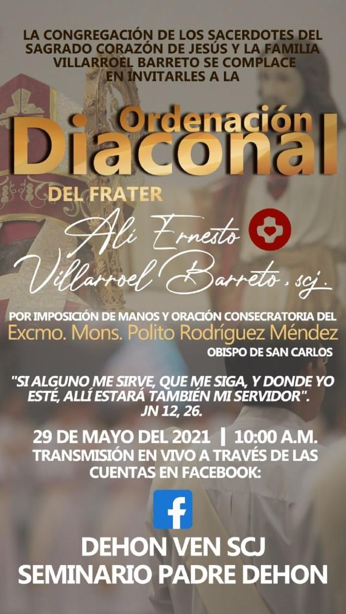 Ordinazione diaconale Alí Villarroel